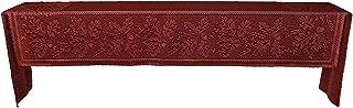 product image for Heritage Lace Dark Paprika Oak Leaf Mantle Scarf