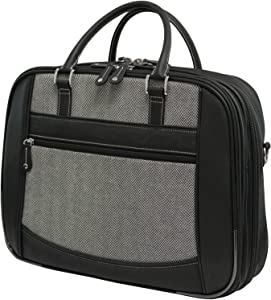 Mobile Edge Women's Herringbone ScanFast TSA Checkpoint Friendly Element Laptop Bag 16 Inch PC, 17Inch MacBook, Business, Travel, Students MESFEBHL