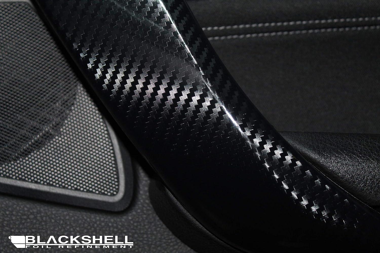 Rakel 3er E90//E91//E92//E93 14tlg Interieurleisten - Carbon Folie selbstklebend Skalpell BLACKSHELL Zierleisten Folie inkl