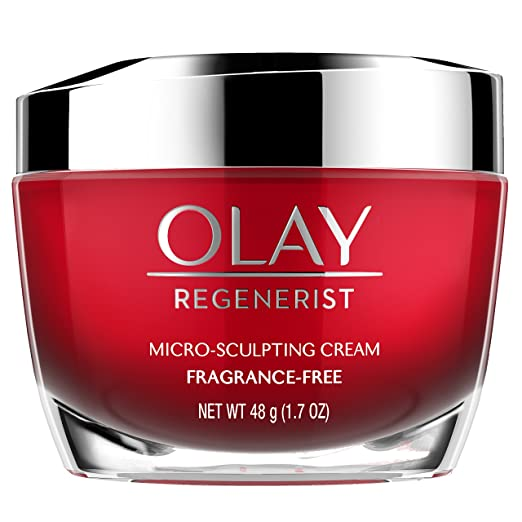 Olay, Anti-Aging Face Moisturizer Cream by Olay Regenerist, Micro-Sculpting & Fragrance-Free 1.7 Ounces (packaging may vary)