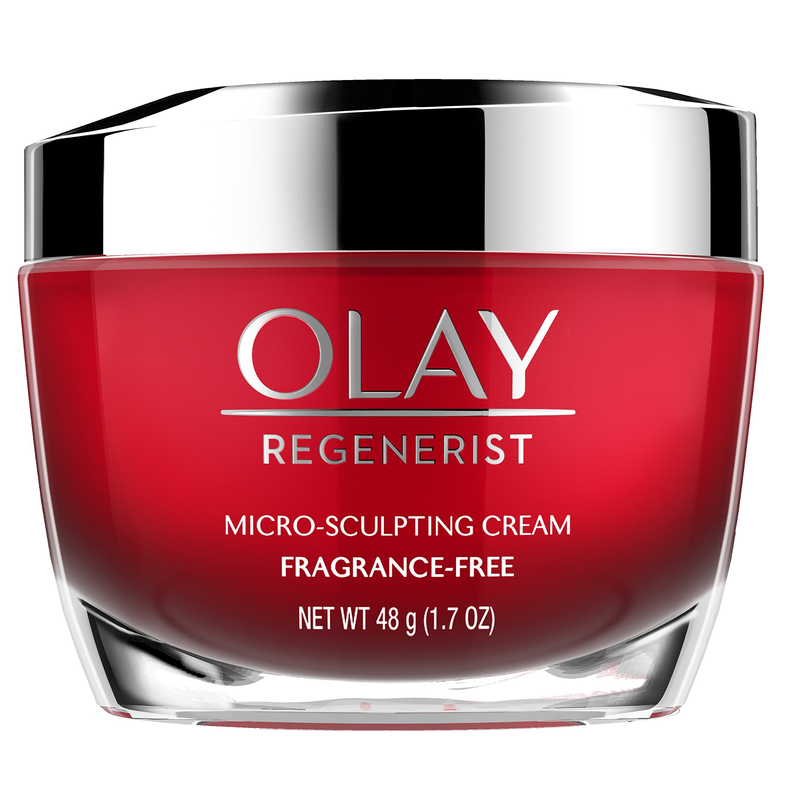 Anti-Aging Face Moisturizer Cream by Olay Regenerist, Micro-Sculpting & Fragrance-Free 1.7 Ounces (packaging may vary)
