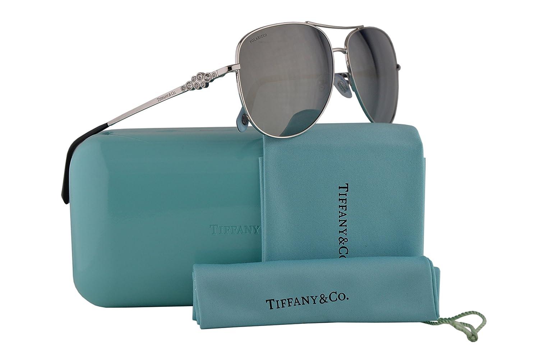 b1351aeaf8 Tiffany   Co. TF3052B Sunglasses Silver w Polarized Blue Gradient Blue  Mirror Lens 59mm 60014Y TF3052-B Tiffany Co. TF 3052B TF 3052-B  Amazon.ca   Clothing ...