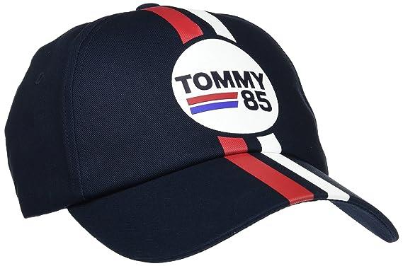 Tommy Hilfiger Logo Stripe Cap, Gorra de béisbol para Hombre, Azul (Tommy Navy