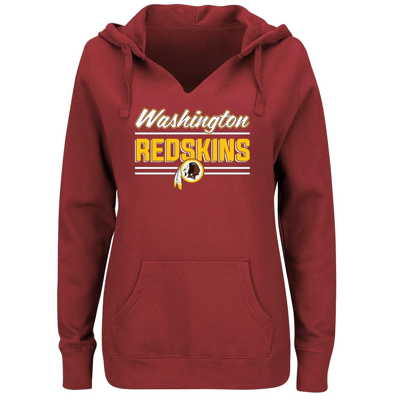 NFL Team Apparel NFL womens Redskins Fleece Pull Over Notch Hood