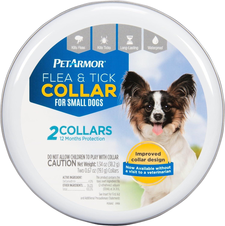PETARMOR 2 Count Flea & Tick Collar for Dogs