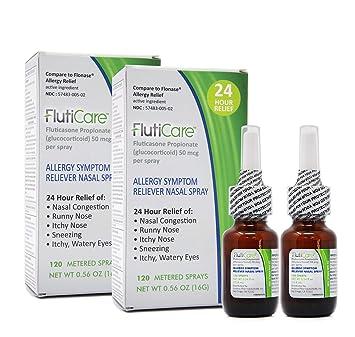 0368fd5dbbc Amazon.com  FlutiCare - 120 metered Nasal Sprays (2 Pack ...