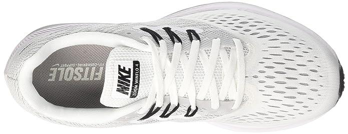 Amazon.com | NIKE Womens Zoom Winflo 4 Running Sneaker White/Black-Wolf Grey 898485-100 (10 M US) | Road Running