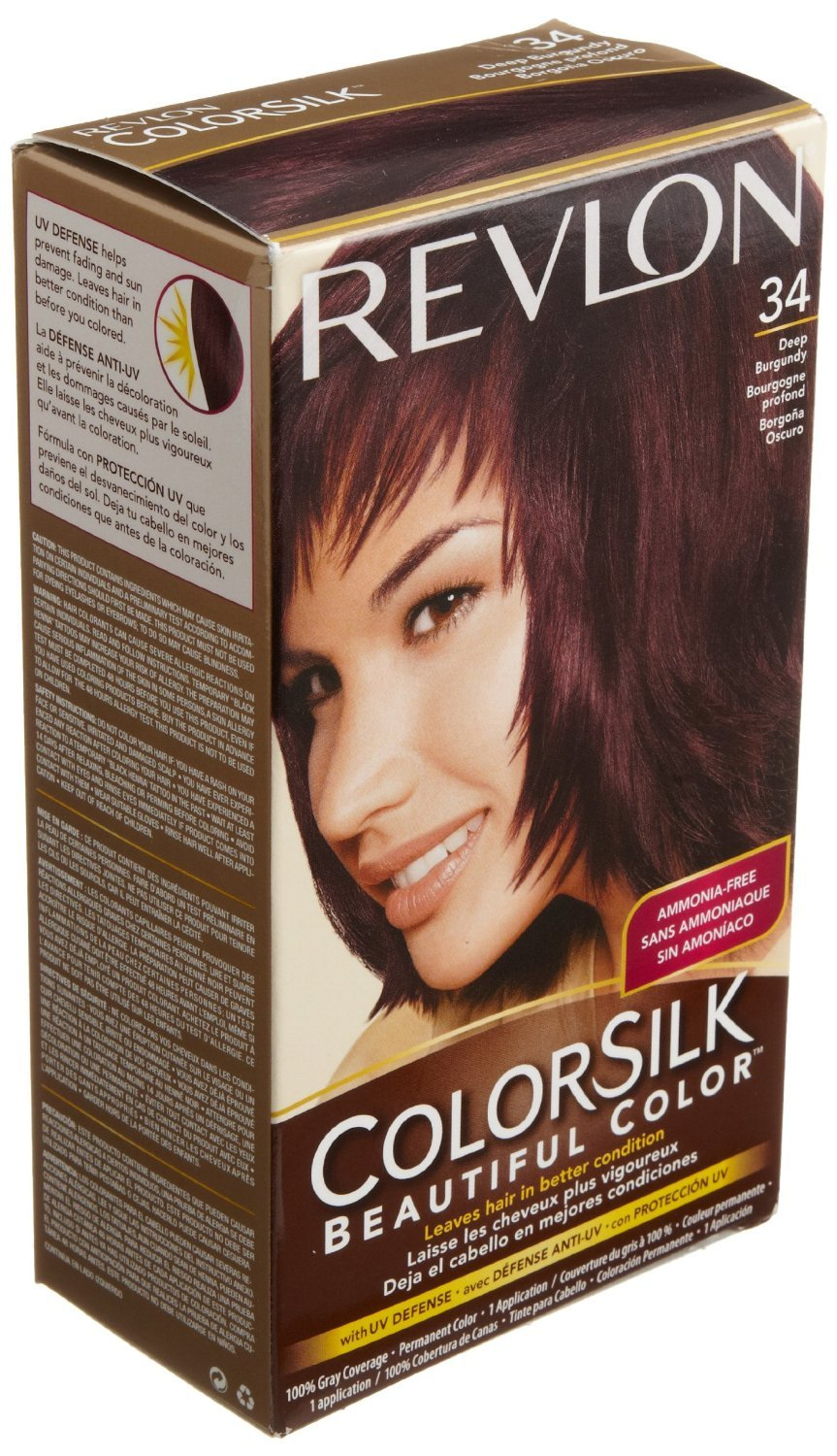 Revlon Colorsilk Beautiful Color for Unisex, 34 Deep Burgundy