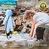 HAPIU Kids Toddler Rain Suit Muddy Buddy Waterproof Coverall,Blue,4T,Upgraded