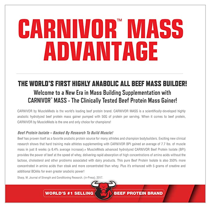 Musclemeds carnivor de chocolate 4,5 kg masa: Amazon.es ...