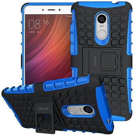 ykooe Funda Xiaomi Redmi Note 4, Silicona Carcasa Redmi Note 4 Doble Capa Híbrida Accesorios Movil Funda con Soporte para Xiaomi Redmi Note 4 - Azul
