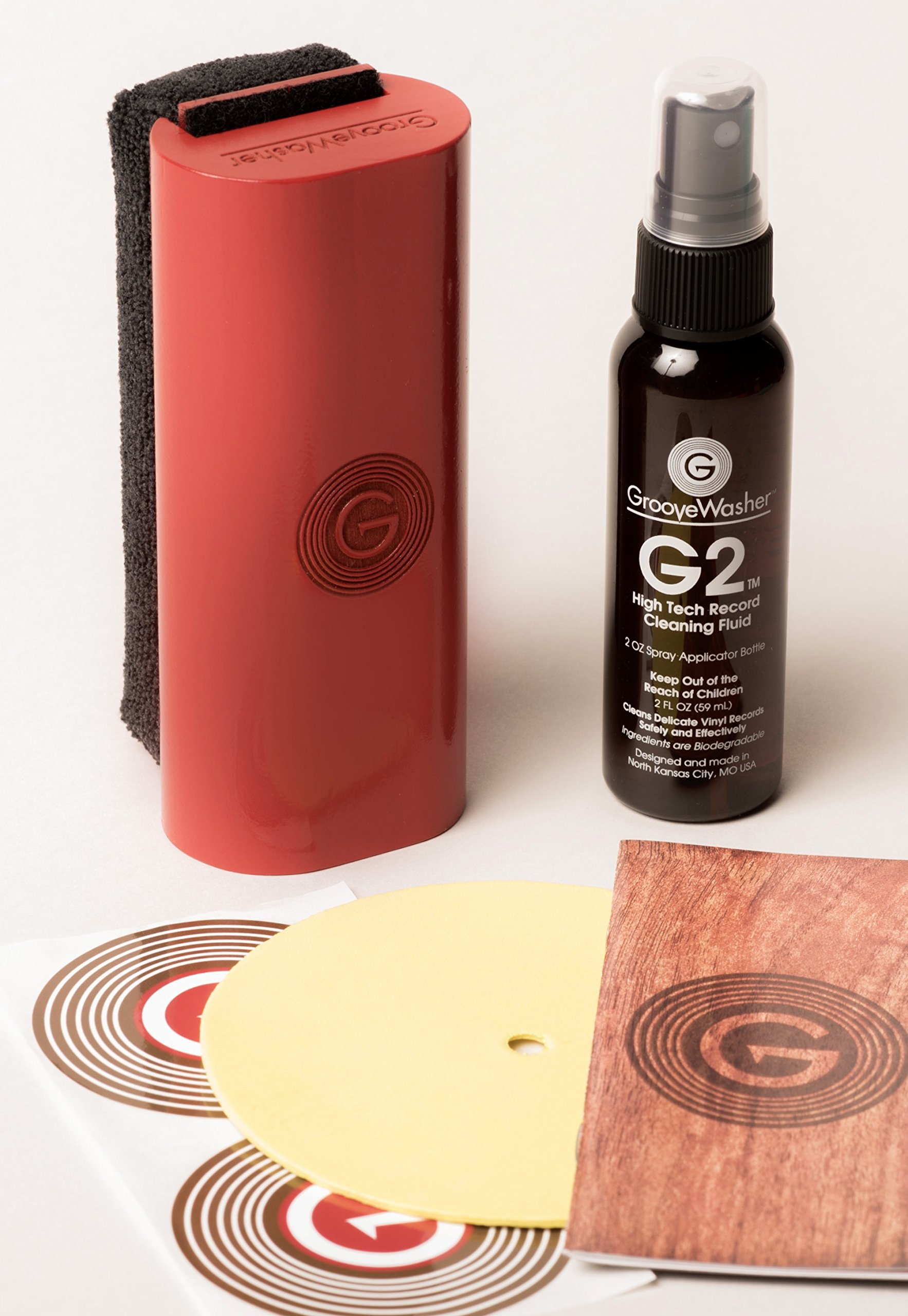 GrooveWasher Record Cleaning Kit-Red Hot Red