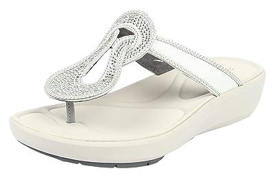 Clarks Women's Wave Glitz Silver Slippers - 3.5UK/India (36 ...