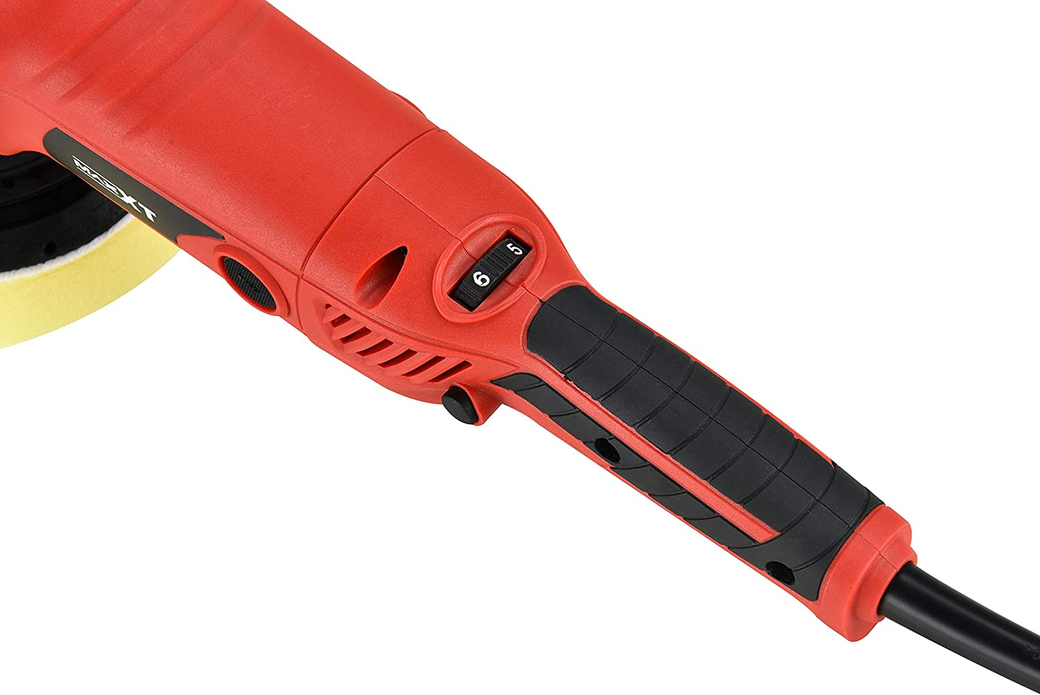 13ft Long Cable; Comes with 1 Beveled Foam Pad. MAXXT Dual Action Buffer Polisher;15mm Random orbit; Infinitely Variable Speed Between 2100-5000 opm; Powerful and Durable 6A Motor; 4M