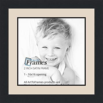 Amazoncom 16x16 16 X 16 Picture Frame Satin Black 2 Wide