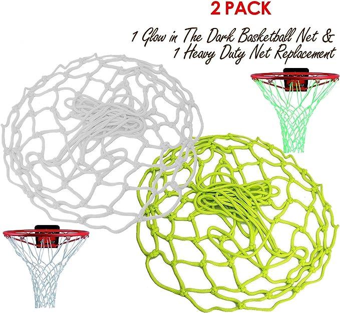 ETCBUYS 1 Glow in The Dark Basketball & 1 Heavy Duty Net ...