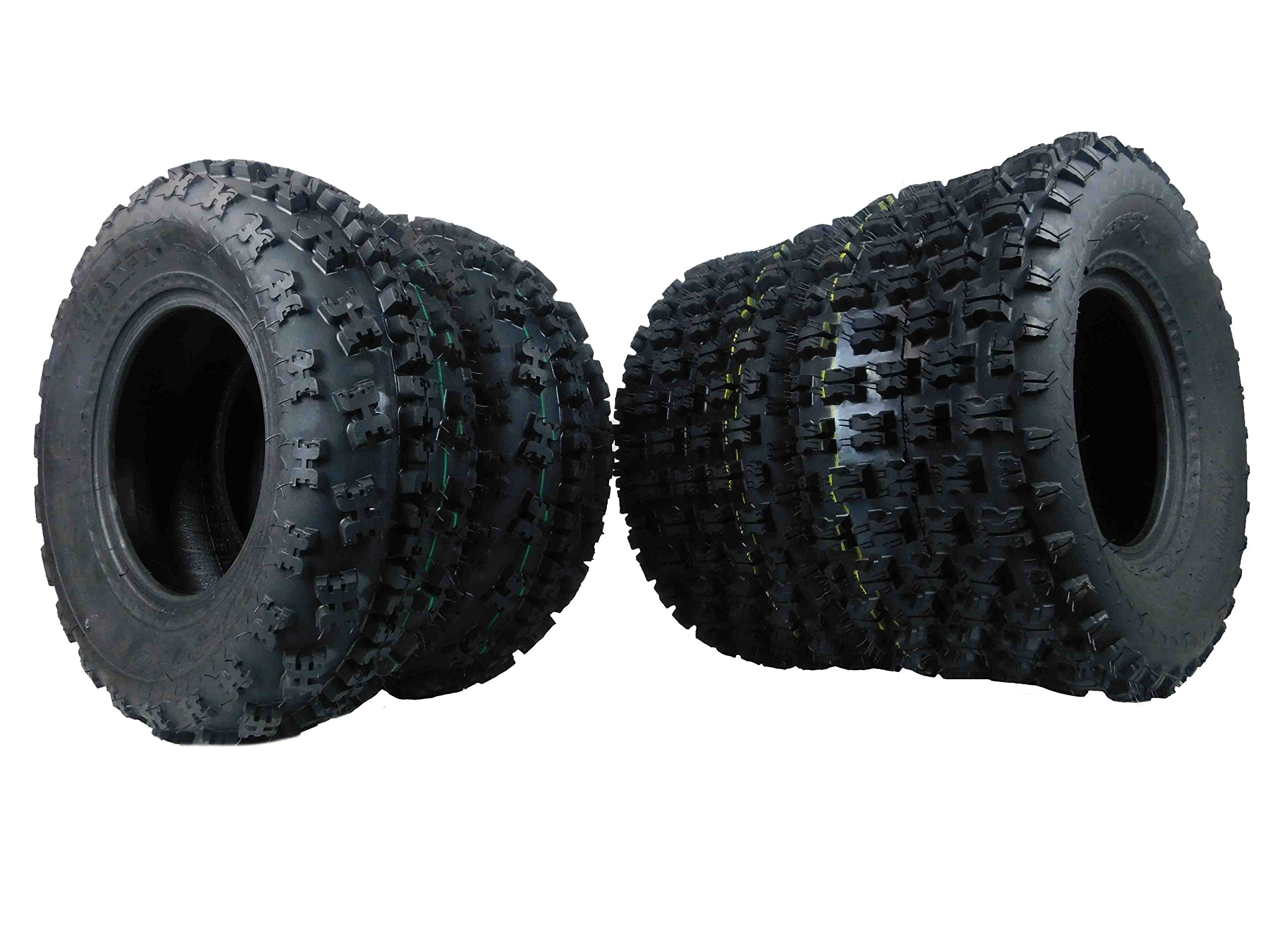Full Set Of MassFx Front (2x) 21X7-10 and rear Tires (2x) 20X10-9 ATV Tires Pair by MASSFX