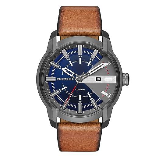 Diesel Reloj Analógico para Hombre de Cuarzo con Correa en Cuero DZ1784: Amazon.es: Relojes