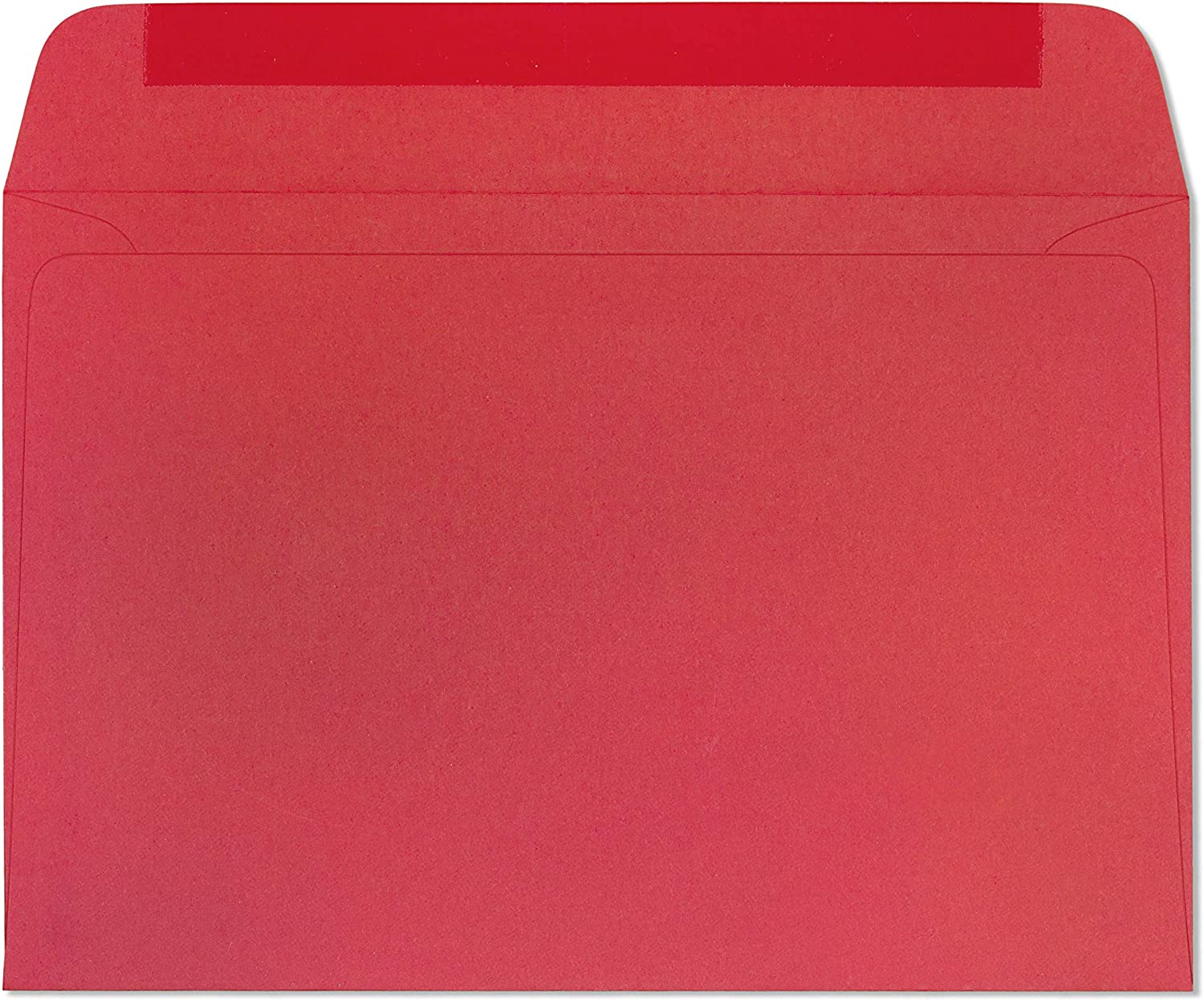 Envelopes 6x9 Holiday Red Bright Color - Greeting Cards Invitation Envelope 24lb 6 x 9 Inch Heavyweight Paper Envelopes for Home, Office, Business, Legal or School - 25 Count