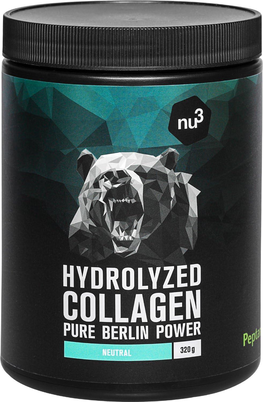 nu3 Colágeno hidrolizado de bovino - 90% de proteína - 320g de polvo - Suplemento alimenticio puro - Ideal para músculos, articulaciones y tejido ...