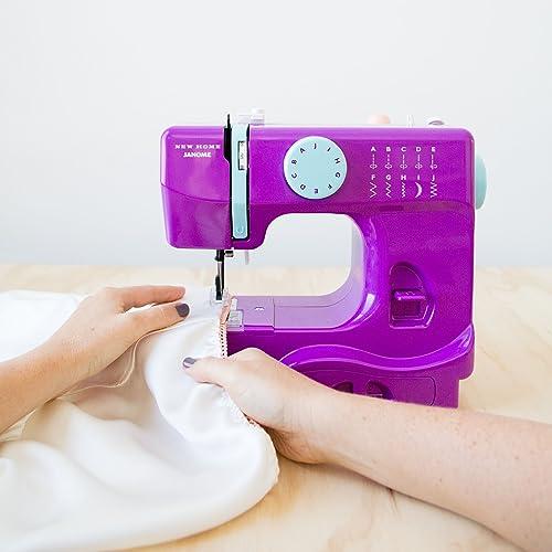 Janome Basic 40Stitch Portable Compact Sewing Machine With Free Classy Janome Basic 10 Stitch Portable Sewing Machine
