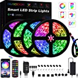 GUSODOR LED Strip Lights 65.6ft RGB Light 5050 LEDs Tape Strips Rope Light Music Sync Colors Changing with 24-Key Remote…