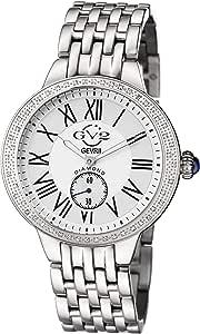 GV2 by Gevril Astor Womens Diamond Swiss Quartz Stainless Steel Bracelet Watch, (Model: 9100)