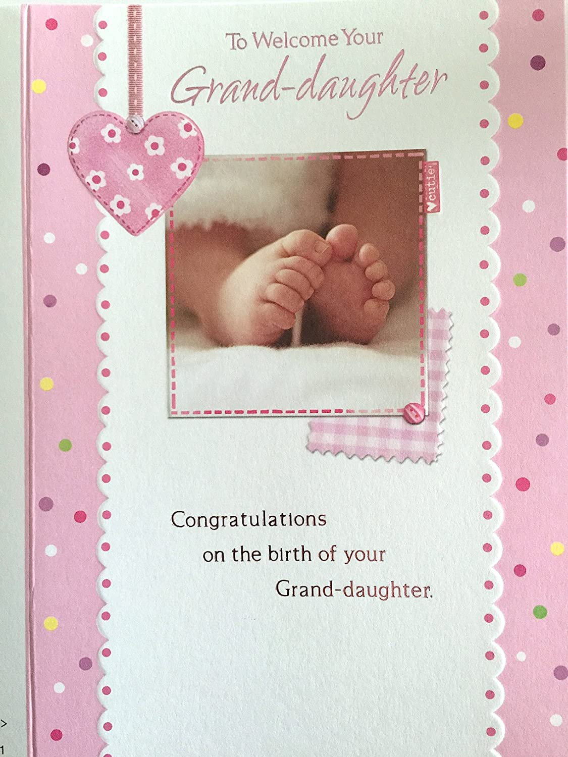 To Welcome Your Grand Daughter A Beautiful High Quality Card To