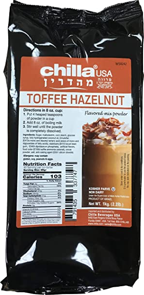 Amazon.com : Chilla by SSE Hot Latte and Frappe Mix, 2.2 Pound Bag (Toffee Hazelnut) : Grocery & Gourmet Food