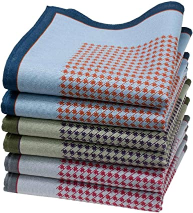 6 pañuelos para hombre - 100% algodón - Modelo