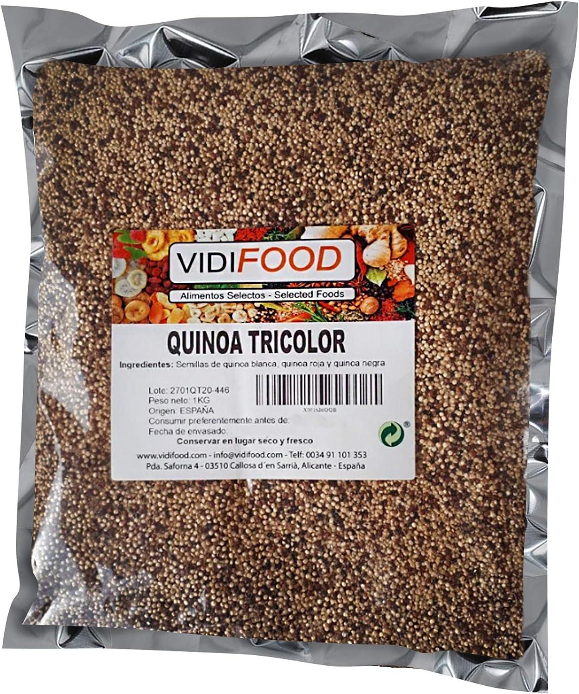 Quinoa Tricolor - 1kg - Fuente Rica de Aminoácidos, Vitaminas y Minerales - 100% Natural y Sin Toxinas