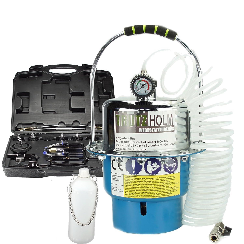 Trutzholm® Bremsenentlüftungsgerät Druckluft Bremsenentlüfter Entlüftungsgerät 5 L Baumarktplus