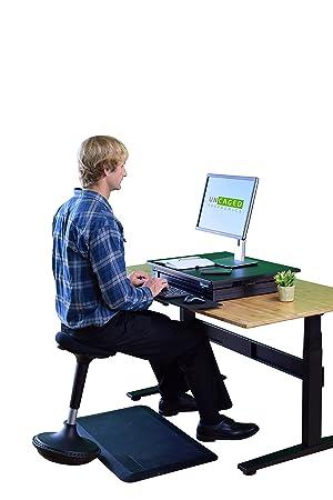 Bürohocker ergonomisch  Uncaged Ergonomics WOBBLE STOOL Standing Desk Office and Bar Stool ...