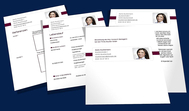 Bewerbungen - Das große Vorlagen Paket - modern - dynamisch, klassisch,  kreativ - Komplett mit Deckblatt, Anschreiben, Lebenslauf und Anlagen:  Amazon.de: ...