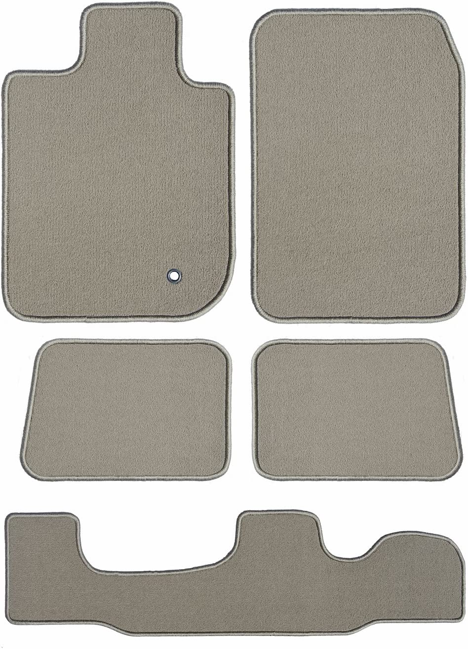 GGBAILEY Beige Loop Driver Passenger 2nd and 3rd Row Floor Mats Custom-Fit for Chrysler Pacifica Hybrid 2019-2019