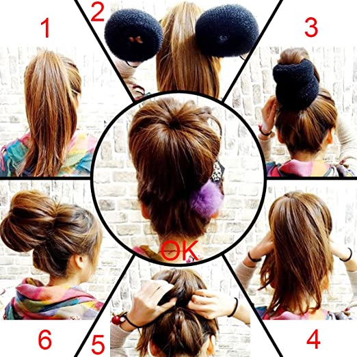 QY Extra Large Size Hair Mesh Chignon Donut To Make The Largest The Most Round Shape Doughnuts Hair Bun For Long Thick Hair, Brown Color