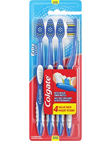 Colgate Extra Clean Full Head Toothbrush, Medium - 4 Count