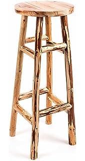 Rustikale Barhocker vidaxl barhocker massives recyceltes altholz vintage stil amazon de