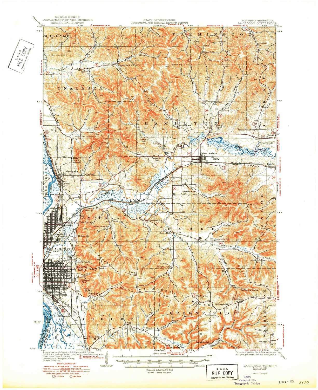 Amazon Com Yellowmaps La Crosse Wi Topo Map 1 62500 Scale 15 X