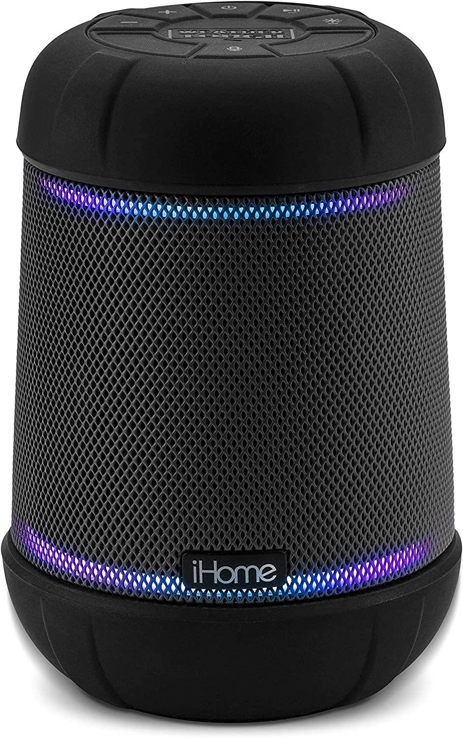 iHome iBT158 Smart Bluetooth Speaker - With Alexa Built-In and Color Changing LED Lights - Perfect Portable Audio Device for Parties, Outdoors, and Other Events
