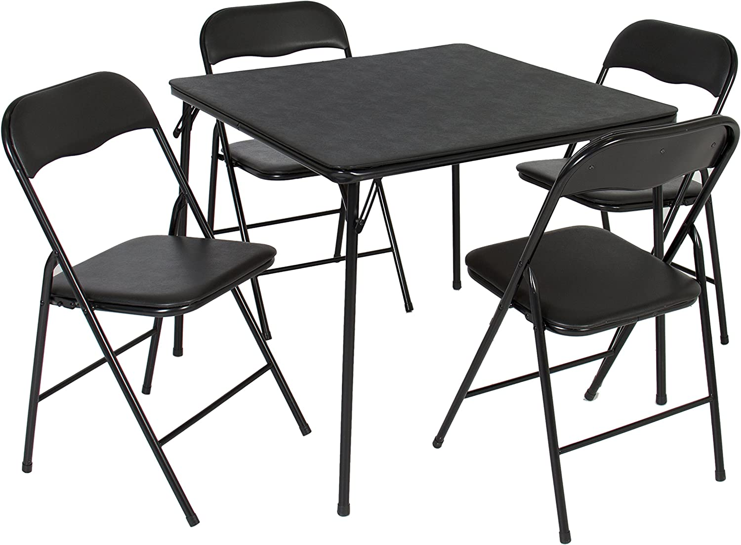 Best Choice Products 5PC Folding Table Chairs Card Poker Game Parties Portable Furniture Dining Set