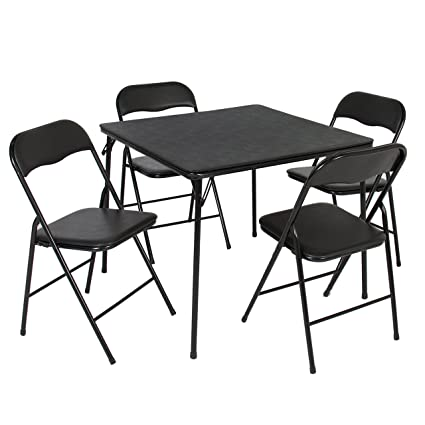 Best Choice Products 5PC Folding Table U0026 Chairs Card Poker Game Parties  Portable Furniture Dining Set