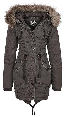070dcc7c myMO 25132733 Women's Parka - Grey - X-Large: Amazon.co.uk: Clothing