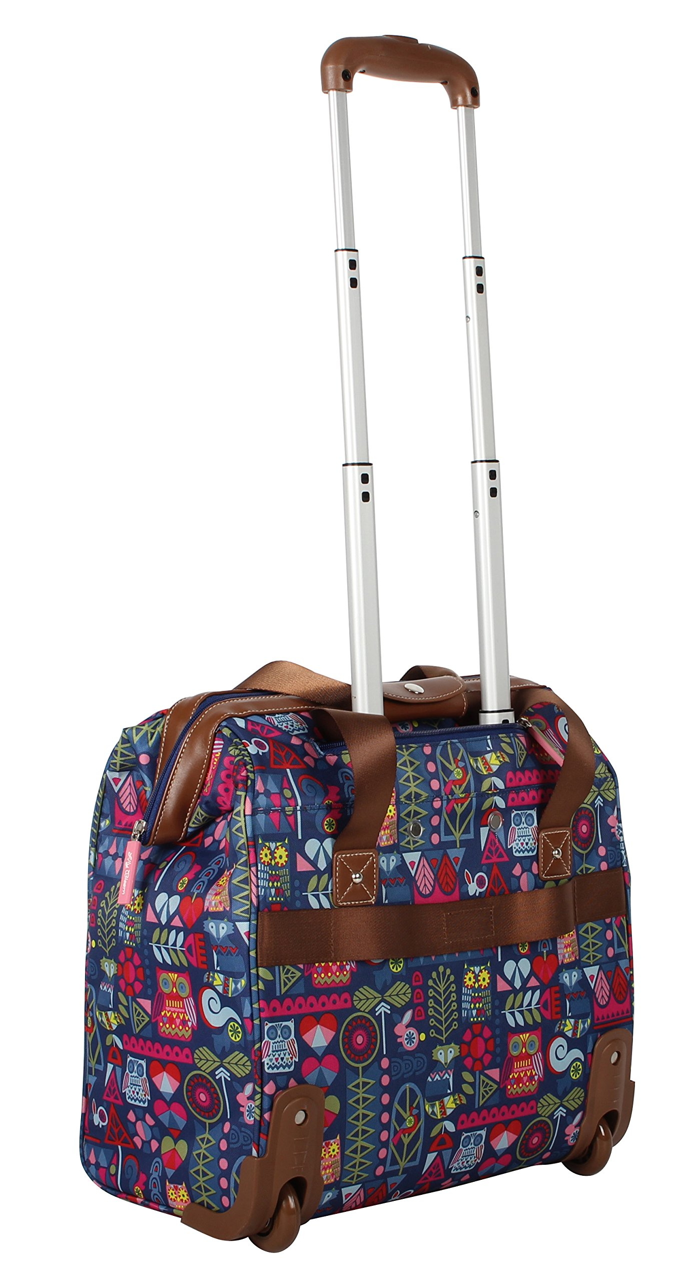 Lily Bloom Luggage 3 Piece Softside Spinner Suitcase Set Collection (Geo Critter) by Lily Bloom (Image #6)
