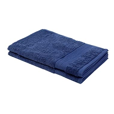 """Bliss Luxury Combed Cotton 2 PK Hand Towel - 20"""" x 30"""" Extra Large Premium Quality Hand Towel - 650 GSM - Soft, Absorbent - Bonus Laundry Bag Included (Denim)"""