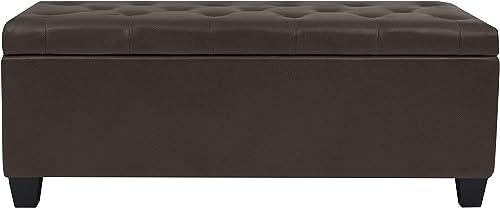 Handy Living Tufted Bench Storage Ottoman