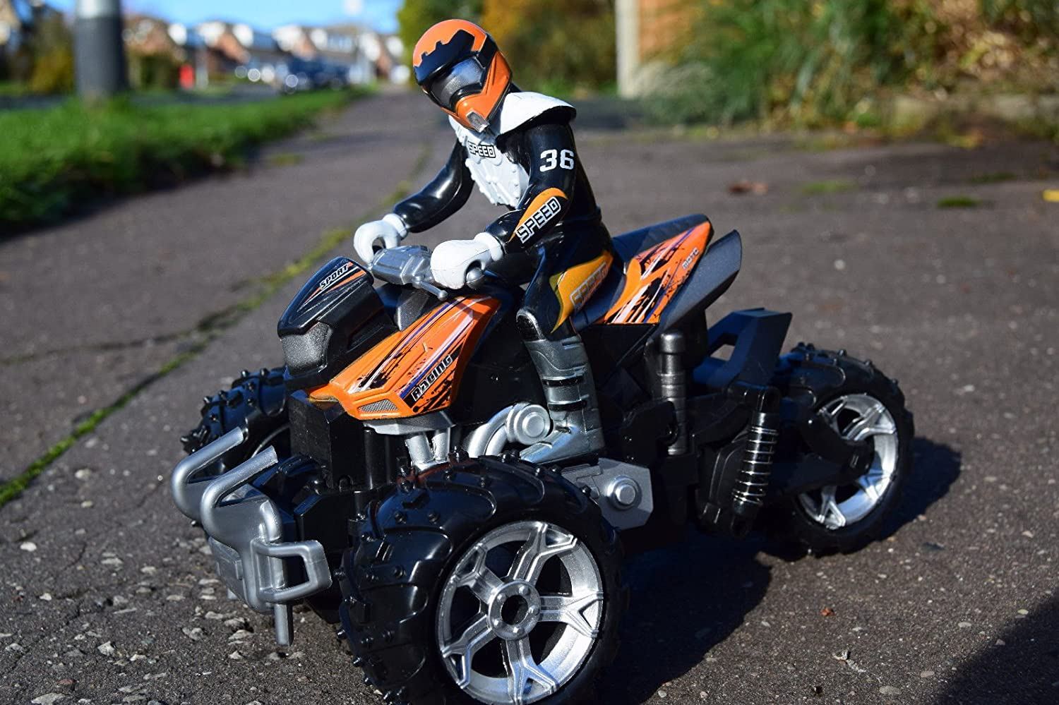 1/12 SCALE ATV QUAD MOTORCYCLE RC RADIO REMOTE CONTROL CAR CAR QUICK SPEED SAMMAR GIFTS