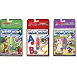 Melissa & Doug On the Go Water Wow! Activity Pad 3-Pack, Animal, Alphabet, Bible Stories (Reusable Water-Reveal Coloring Books)