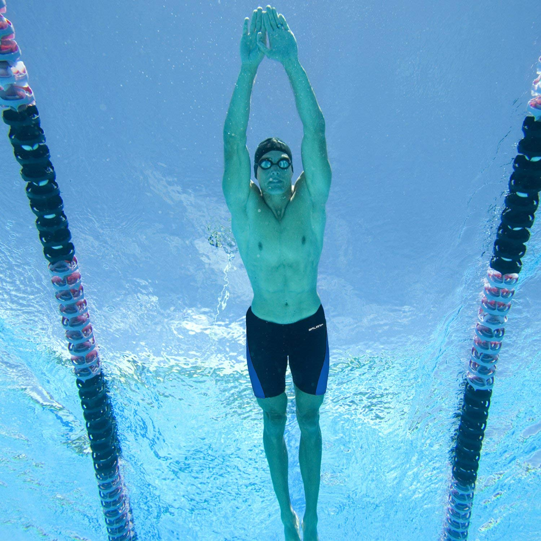 Baleaf Mens Athletic Durable Training Polyester Jammer Swimsuit