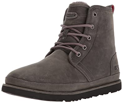 UGG Men's Harkley Waterproof Chukka Boot, Charcoal, ...